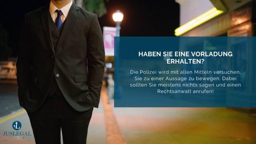 Vorsicht bei Vorladung durch Polizei