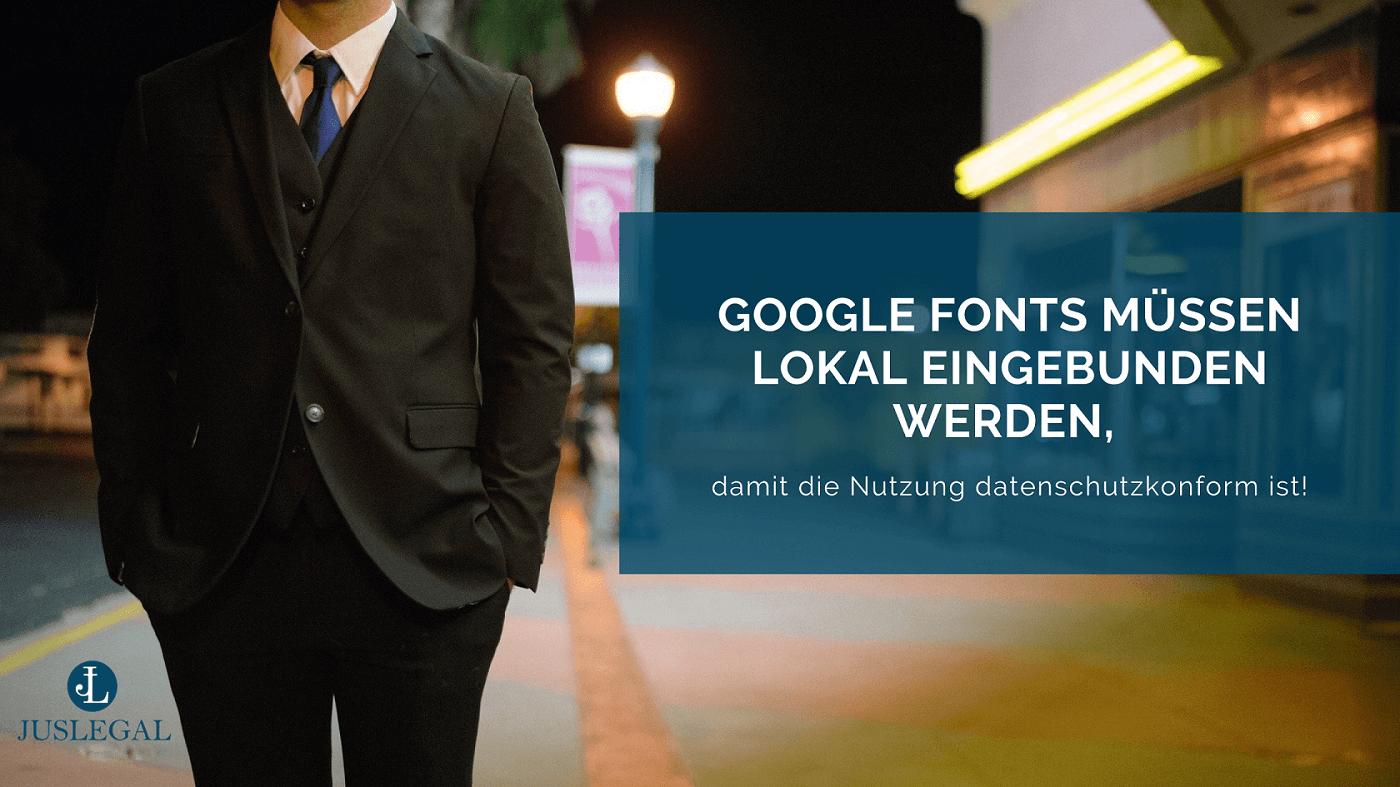 Wie Sie Google Fonts rechtskonform verwenden